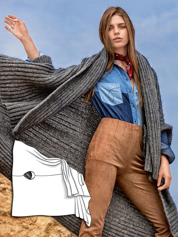Knit Poncho 102016 126 Sewing Patterns Burdastyle