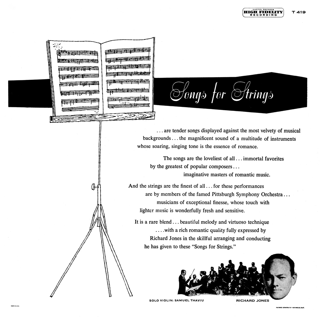 Richard Jones - Songs For Strings