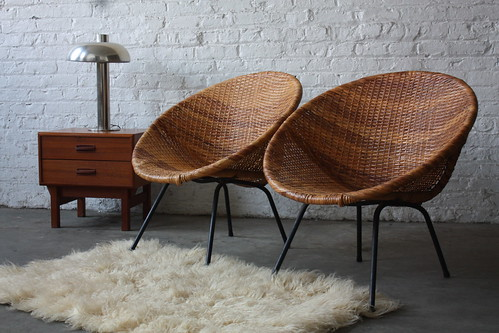 Classic Mid Century Modern Woven Hoop Chairs 1950s Flickr