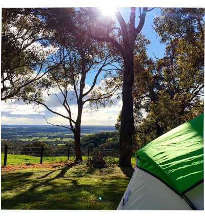 Camping in Harvery