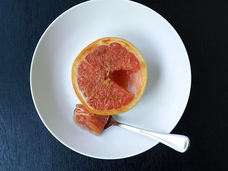 Broiled Grapefruit with Ginger & Coconut