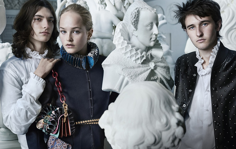 Burberry September 2016 campaign with Jean Campbell, Cavan McCarthy and Alex Dragulele