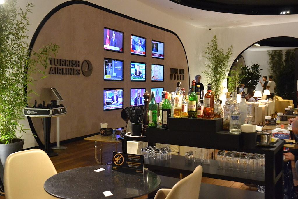 土耳其航空貴賓室電視區