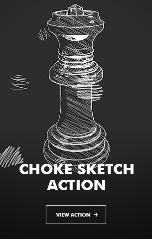 Choke Sketch V.2 - Photoshop Action