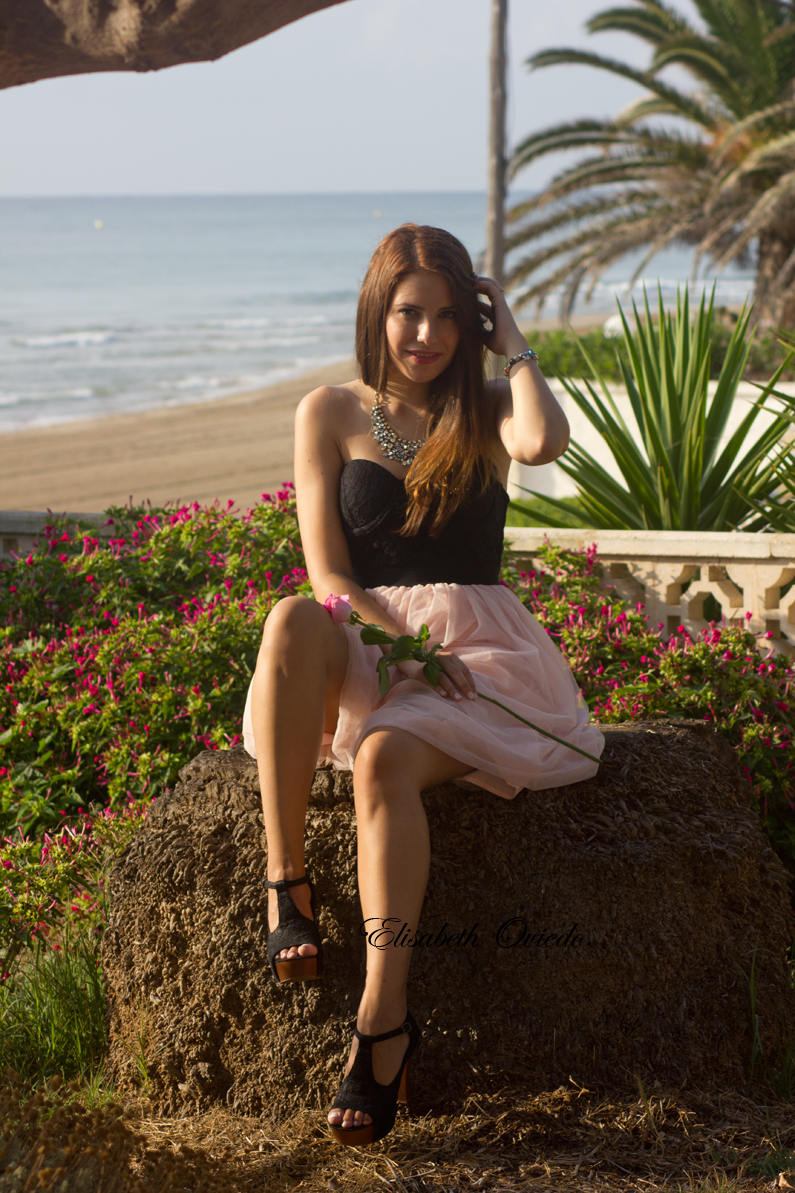 vestido VIPme tacones OASAP HEELSANDROSES Elisabeth Oviedo blog moda vestido palabra de honor falda de vuelo rosa (3)