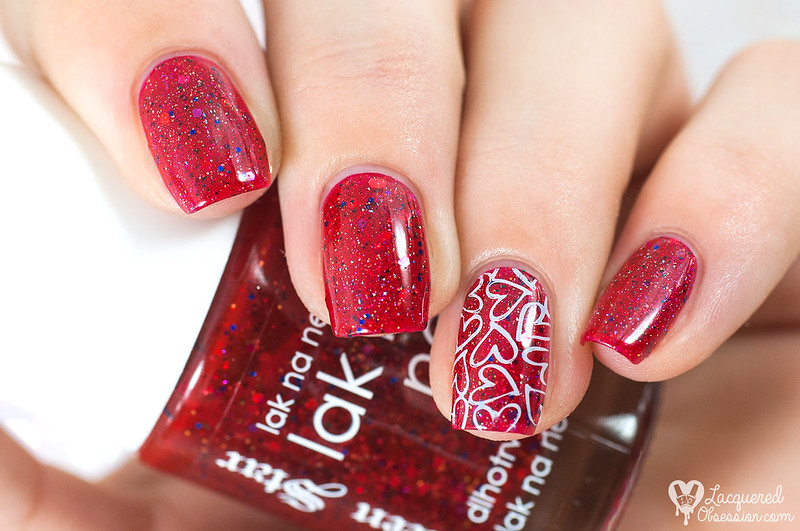 Red holo jelly sandwich with hearts