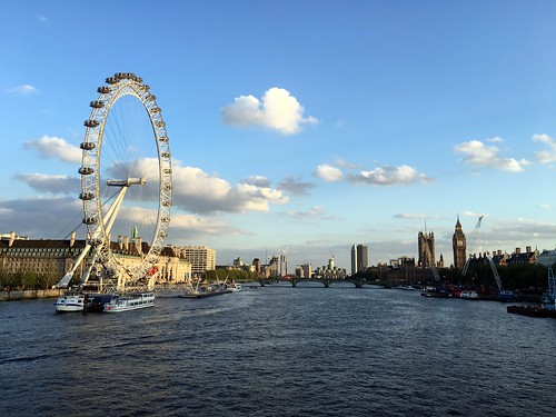 The London Eye, Palace of Westminster and the Thames