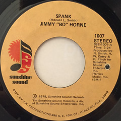 JIMMY BO HORNE:SPANK(LABEL SIDE-A)