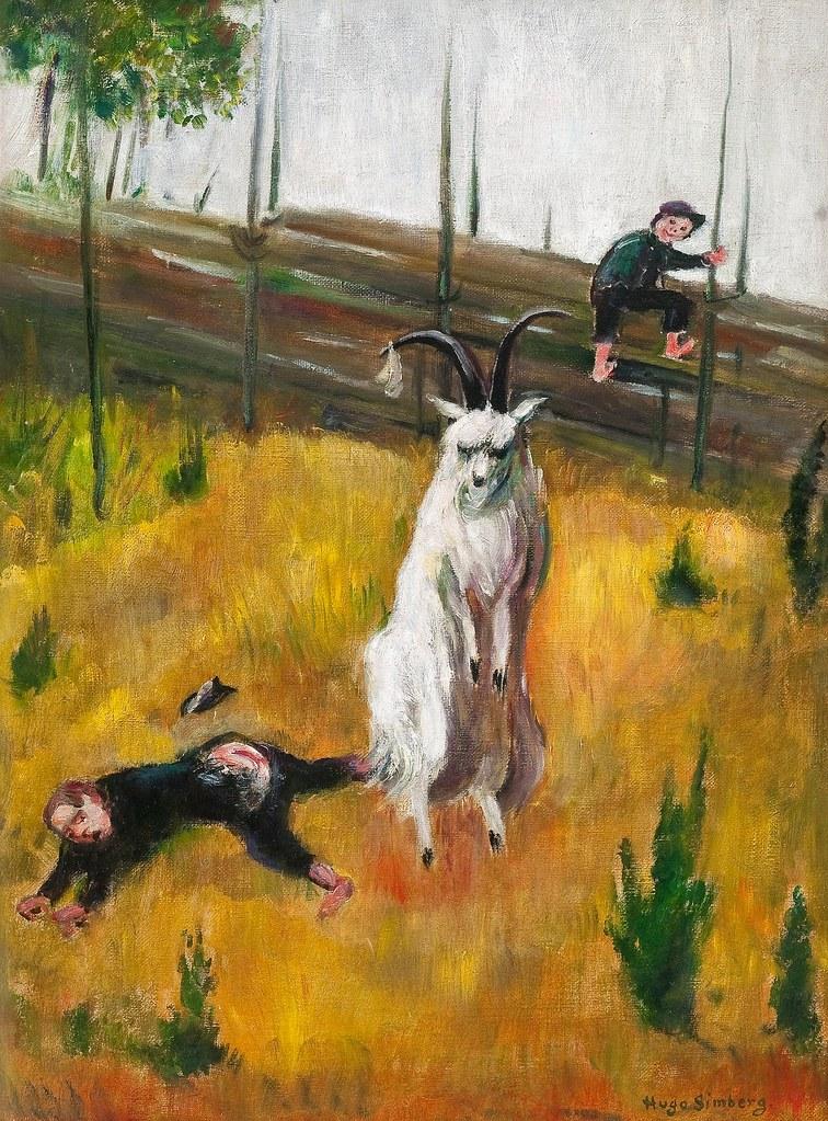 Hugo Simberg - The Angry Ram At Niemenlauta