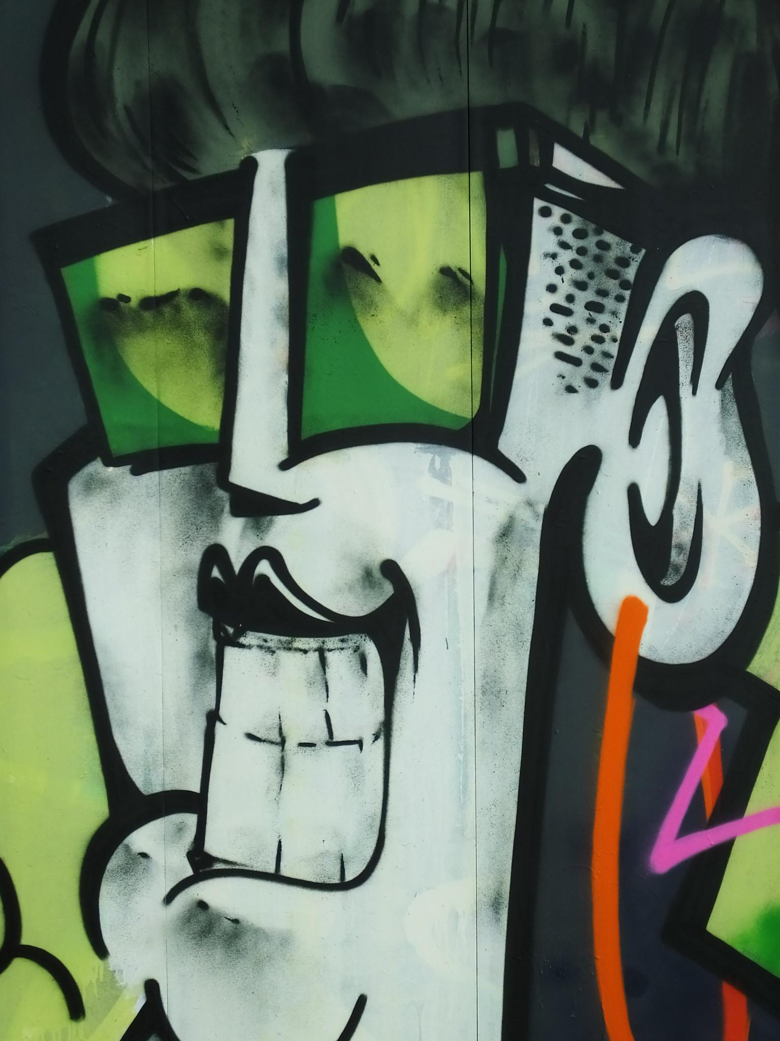 Street art on Millennium Walkway