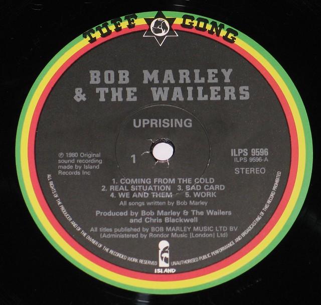 "BOB MARLEY & THE WAILERS UPRISING England 12"" vinyl LP"