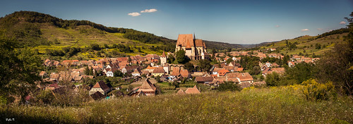 Panorama satului Biertan