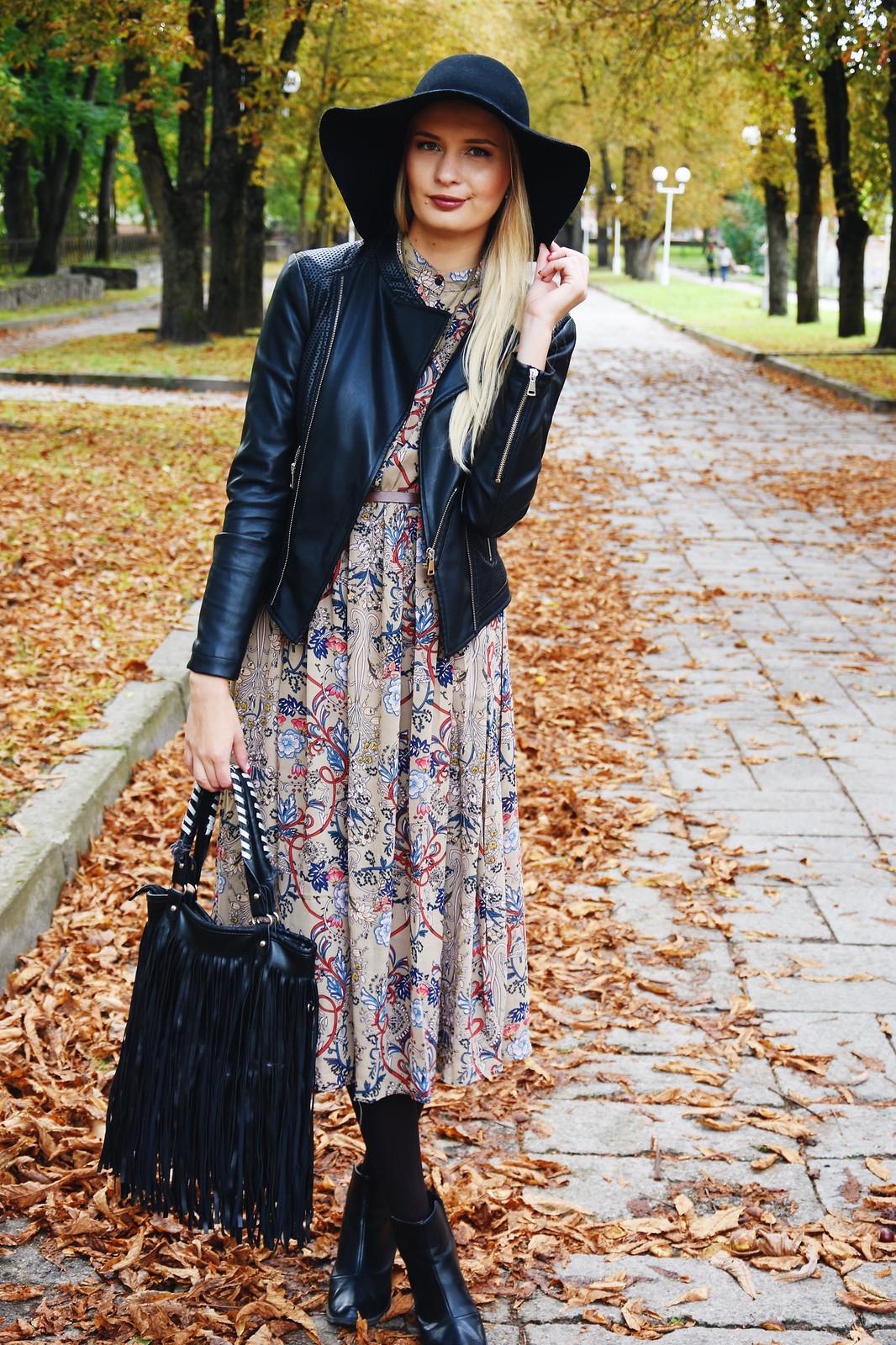 Brown midi dress from Zaful