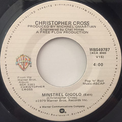 CHRISTPHER CROSS:ARTHUR'S THEME(BEST THAT YOU CAN DO)(LABEL SIDE-B)