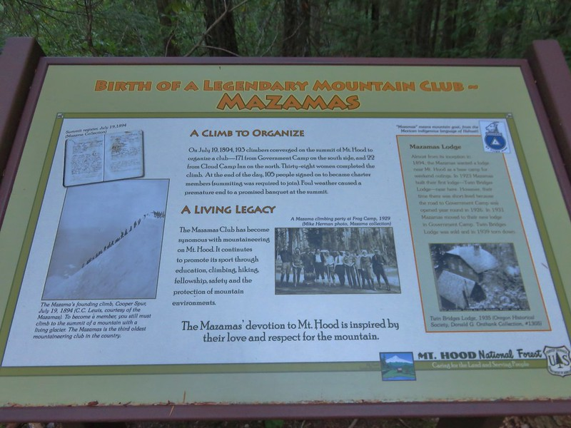 Interpretive sign near the Hidden Lake Trailhead