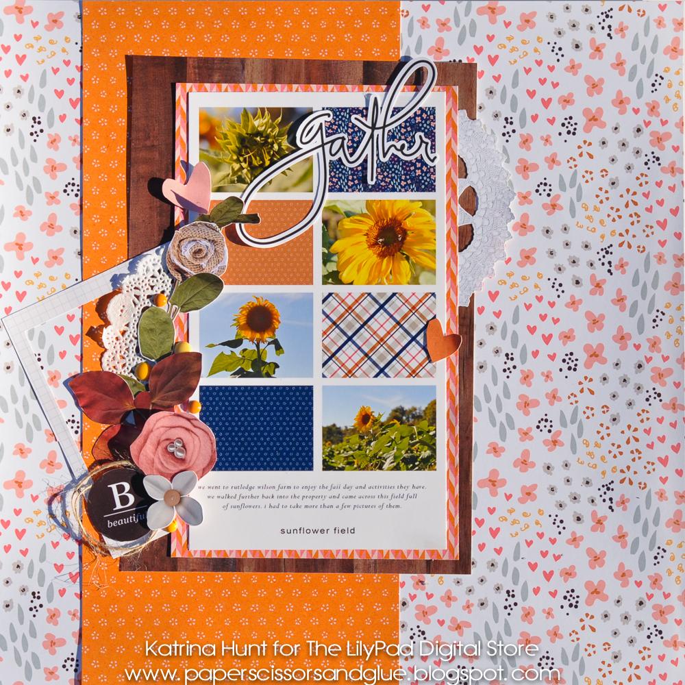 Sunflower Field-Lilypad Blog, Amber LaBau and Paislee Press