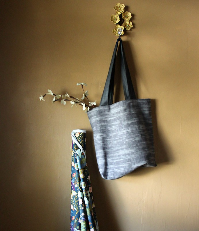 Crosshatch Textured Denim & Nightfall Easy Tote