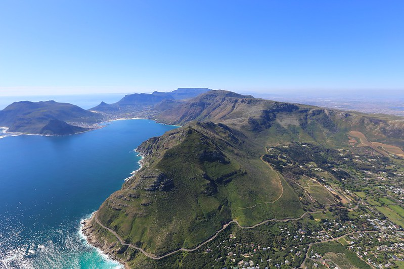 Chapman's Peak helicopter rout cape town