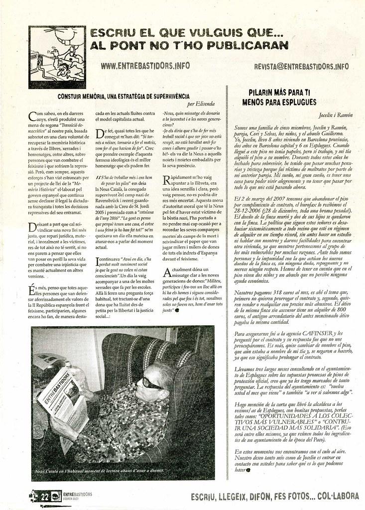 """Entrebastidors: """"Construir memòria, una estratègia de supervivència"""" per Elisenda belenguer"""