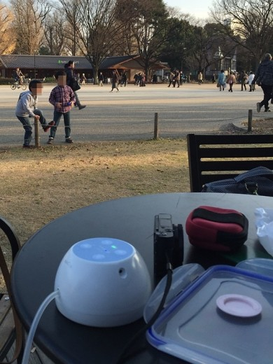 Pumping in Ueno Park