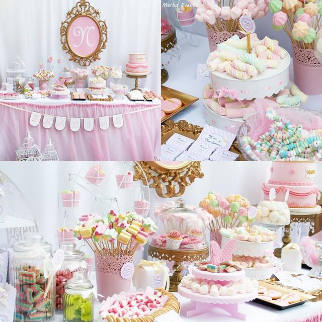 Mesa dulce para el bautizo de nadia merbo events for Mesa de dulces para bautizo de nina