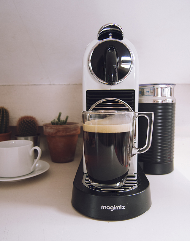 Nespresso CitiZ machine magimix with milk frother fresh espresso