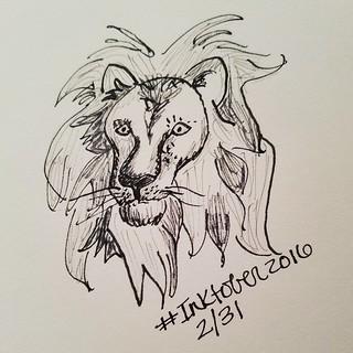 Lion 2/31 #inktober #inktober2016