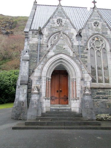 Kylemore Abbey Gothic Cathedral Door