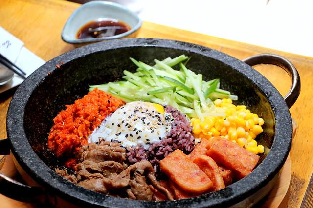 Purple rice bibimbap