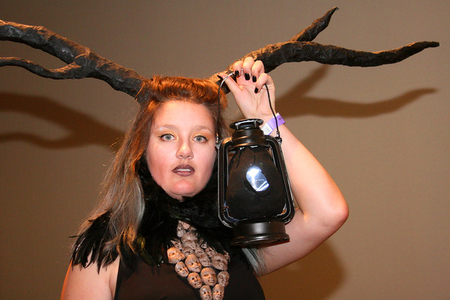 Woman with Antlers and a Lantern Photo by Sherrie Thai of Shaireproductions