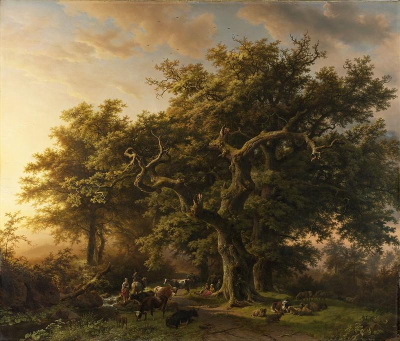 Barend Cornelis Koekkoek - Bosgezicht (1848)