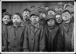 Breaker boys. Smallest is Angelo Ross. Hughestown Borough Coal Co. Pittston, Pa, January 1911 | by The U.S. National Archives