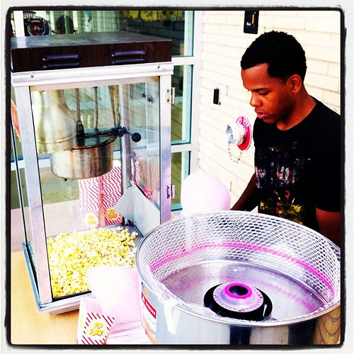 Cotton candy is spinning and popcorn is popping in preparation for Lowell National Night Out! Come on down! | by .mariannika.
