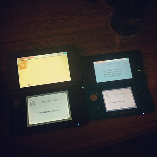 In Progress: Transferring data from 3DS to 3DS XL