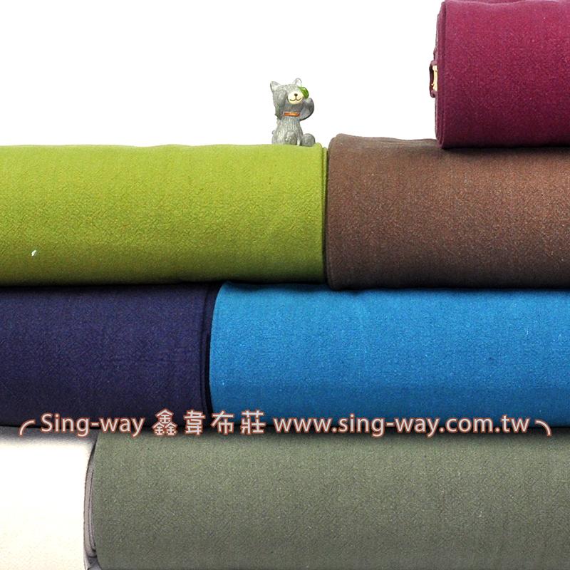 棉麻感酵素洗素面 簡約無印 禪風 中國服裝布料 FA790037