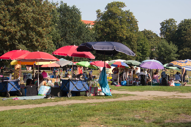 Some of the booths at Prueßenpark