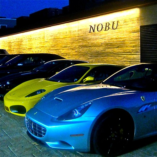 Nobu entrance -note two luxuripis Ferraris | by jayweston@sbcglobal.net