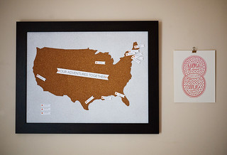 Travel Map Pin Board DIY 11 | by CieraHolzenthal