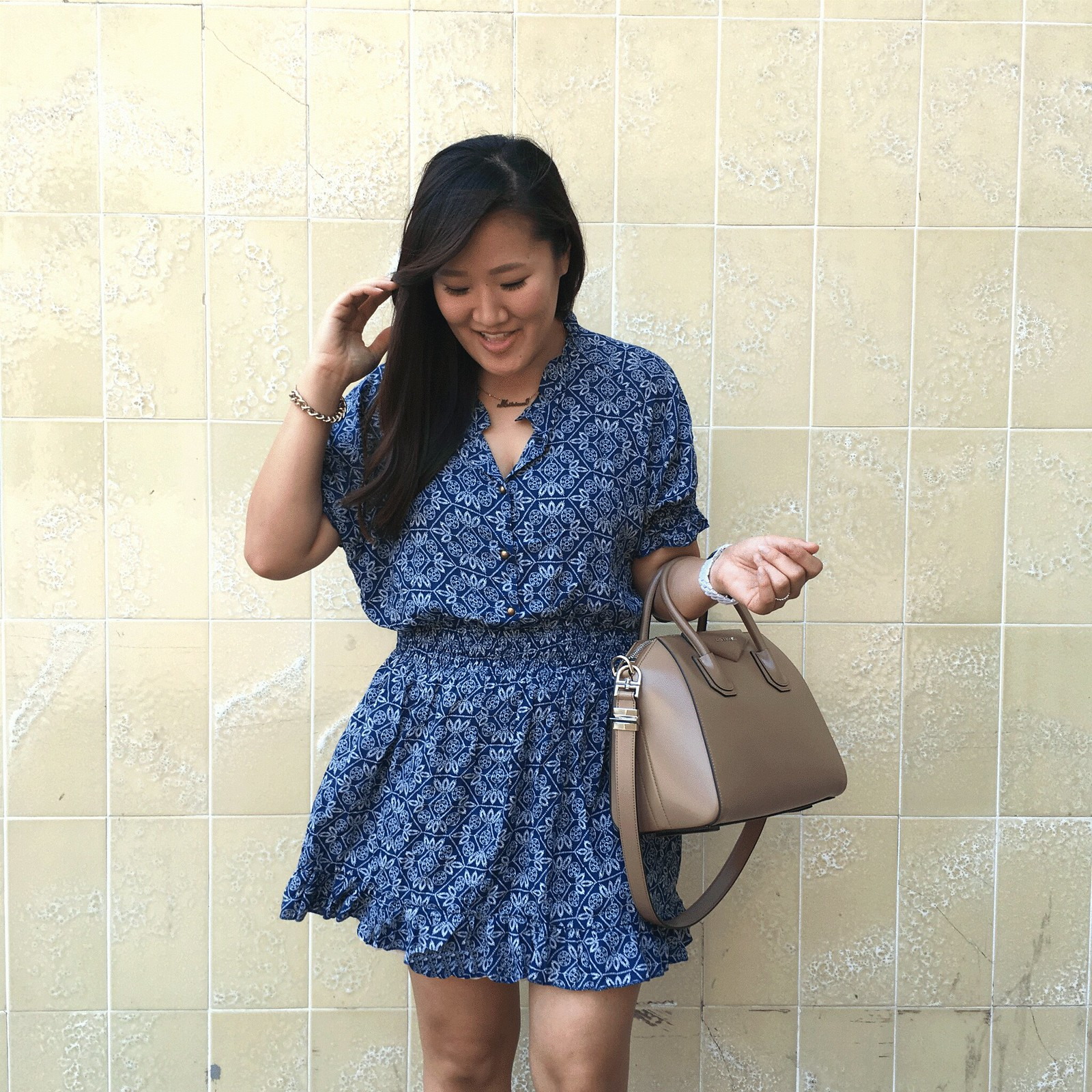 simplyxclassic, givenchy antigona bag, goodnight macaron dress, orange county, fashion blogger,