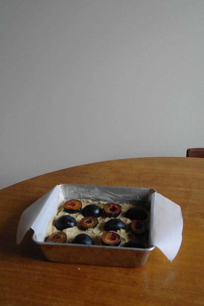 unbaked plum cake