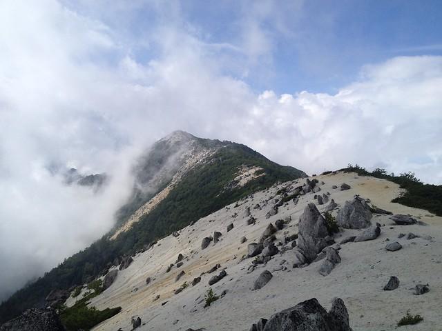 鳳凰山 薬師岳より観音岳方面