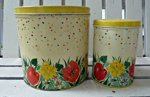 Vintage Yellow Kitchen Canisters | by MissConduct*