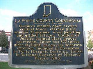 Laporte county courthouse marker laporte indiana for Laporte indiana courthouse
