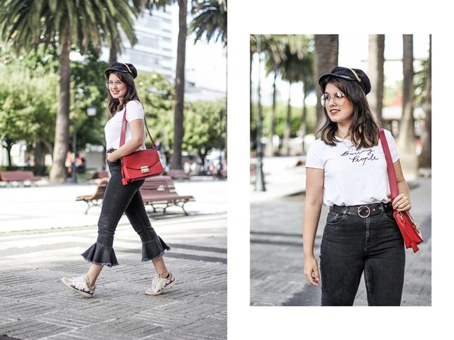 ruffle pants with isabel marant sneakers ner sunglasses asos streetstyle myblueberrynightsblog