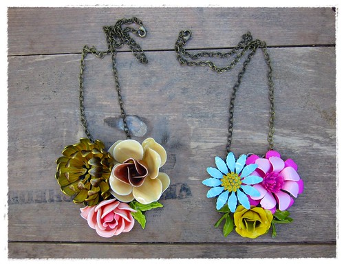 fall 2012 necklaces from bee vintage redux | by Bee Vintage Redux