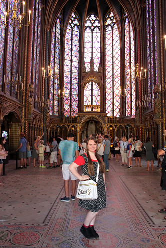 Posing at Sainte-Chapelle