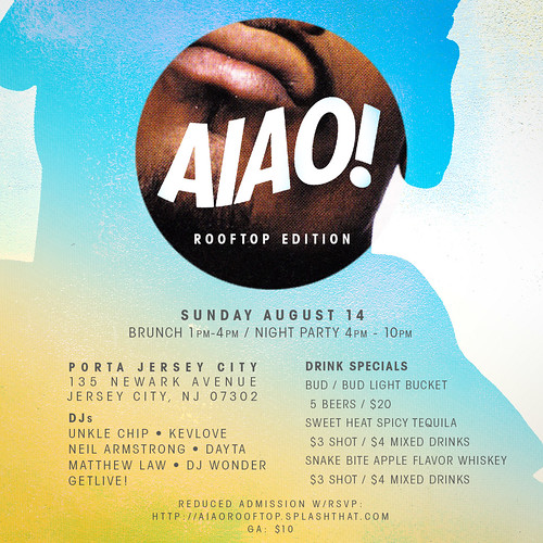AIAO - August 14th Sunday BRUNCH / DAY PARTY