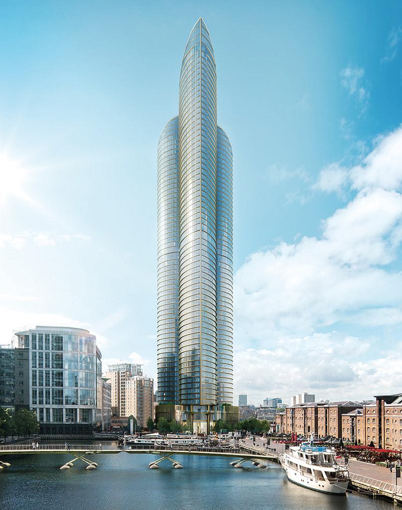 Самый высокий жилой небоскреб Британии Spire London