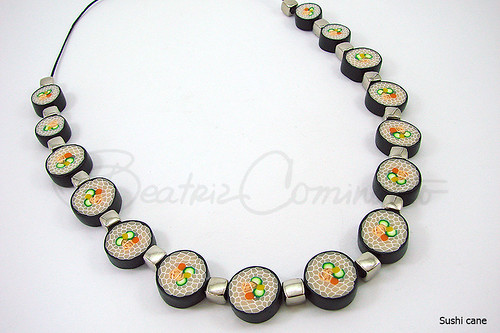 Sushi cane  (Bozzi Super Polymer Clay) | by Beatriz Cominatto