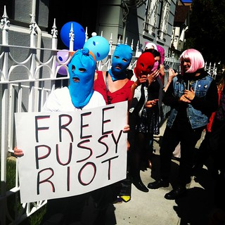 #FreePussyRiot at SF #russia consulate #pussyriot #putin | by Steve Rhodes